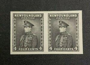 Newfoundland Stamp #189 Black Proof Pair Mint No Gum