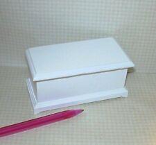 Miniature Classic Large White Toy Box: DOLLHOUSE Miniatures 1/12 Scale