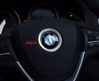 7CM Silver Steering Wheel Logo Frame Trim for F30 F10 F11 X1 X3 X4 X5 X6 F22