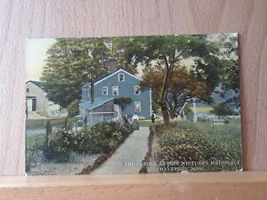 Divided back postcard, Garden of Poet Whittier's Birthplace, Haverhill MA