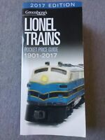 Greenberg's Guides 2017 Edition Lionel Trains Pocket Price Guide 1901-2017 ~ TS