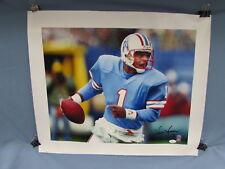 Warren Moon Houston Oilers Autographed 20x24 Canvas Photo JSA Authentic