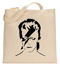Shopper Tote Bag Cotton Canvas Cool Icon Stars David Bowie Ideal Gift Present