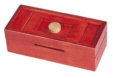 Trickbox Geldgeschenkbox rot / Knopf natur