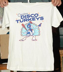 Carolina Disco Turkey's T shirt Minor league baseball L mint SGA beach music New