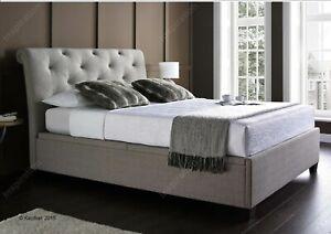 4FT6 Double Kaydian Brunswick Prestbury Linen Fabric Ottoman Storage Bed