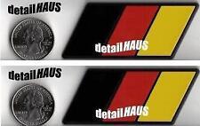 2 GERMAN FLAG EURO BADGE EMBLEMS FOR VW BMW MERCEDES AUDI PORSCHE - FREE SHIP