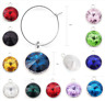 Birthstone Wine Glass Charms Drink Markers Charm Ring For Wedding Party Gift