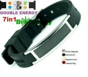 Anion Magnetic Energy Power Bracelet Health 7in1 Bio Armband BAND 4586