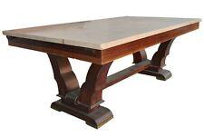 Table de salle à manger 1940 palissandre plateau en  travertin
