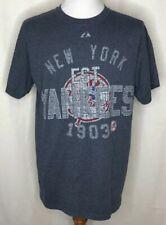 New York Yankees Est. 1903 Medium M Official Majestic T-Shirt Mens