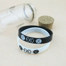 2PCS EXO Team Logo Silicone Neon Wristband Bracelet FROM EXO PLANET KPOP NJ