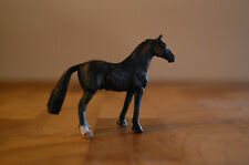 MICRO Collecta warmblood black rubber model horse painted Holly Lenz McDermott