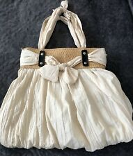 Vintage White Summer Straw Purse Hobo Boho Messenger Bag Handbag WORLD Shipping