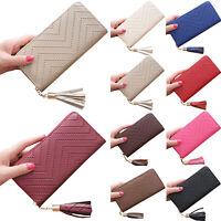 Ladies Women Leather Wallet Long Zip Purse Card Holder Case Clutch Phone Handbag