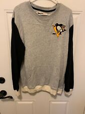 Mitchell Ness Pittsburgh Penguins Long Sleeve Shirt L NHL Patch Stanley Cup
