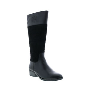 Taryn Rose Greir 34TR1352-BLK Womens Black Leather Casual Dress Boots 8.5