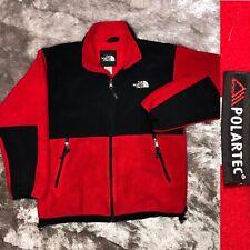 The North Face Polartec Ts8 Red Black Denali Fleece Full Zip Jacket Youth Xl