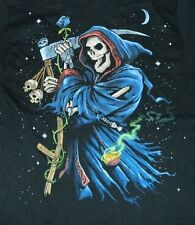 Grim Reaper with Scythe Two-Sided Fantasy Art T-Shirt Size Medium, New Unworn