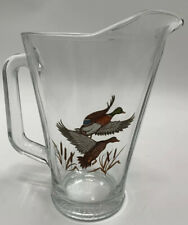 Wildlife Duck Glass Beer Pitcher Drink Man cave