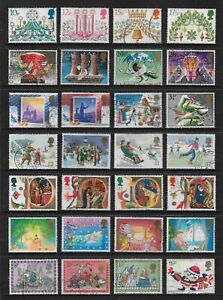 GREAT BRITAIN, UK mixed Christmas collection No.31, decimal, used