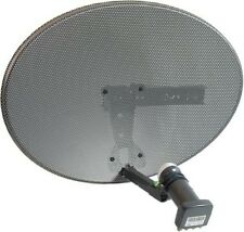 Sky / Freesat Satellite Dish with Quad LNB Used for Sky or Free TV Free Shipping