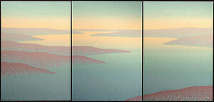 "Scott Nellis ""Teal Basin I, II, III"" Triptych of 3 Signed & #ed Art Serigraphs"