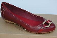 Timberland Saybrook Ballerines Chaussures Femme 39 Mocassins Bordeaux UK6 Neuf