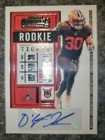 2020 Panini Contenders Rookie Ticket RC Auto D'Ernest Johnson Browns #300
