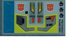 TRANSFORMERS GENERATION 1, G1 AUTOBOT PRETENDER BUMBLEBEE REPRO LABELS / STICKER
