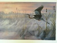 """Wilhelm Goebel """"Rising Marsh-Great Blue Heron"""", S/N #151/950, 1990 24""""x35-5/8"""""""