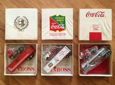 LOT OF 3, WINROSS, COCA COLA COLLECTORS CLUB, ANNUAL (DIE-CAST) TRUCK & TRAILER