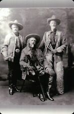 Buffalo Bill Cody, Pawnee Bill & Buffalo Jones, American Wild West Gun Postcard