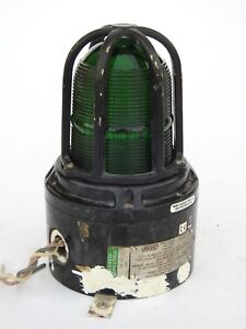MEDC Beacons, MEDC Lights & MEDC Strobes Light Green XB15 Vintage Maritime