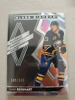 Sam Reinhart 2020-21 UD Black Diamond Base #d 145/349 Buffalo Sabres