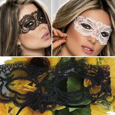 Floral Lace Halloween Costume 50 Shades Sheer Mesh Scalloped Edged Eye Mask OS