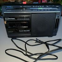 Emerson Boombox AM/FM Radio With Cassette Recorder/Player/Power Cord AC2380. EUC