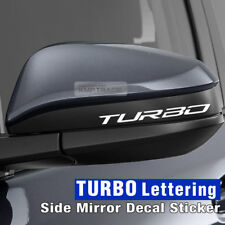 Universal Car Side Mirror TURBO Lettering Decal Sticker 4Pcs for All Vehicle