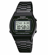 Casio B640WB-1A Men's Vintage Black IP Stainless Steel Alarm Chronograph Watch