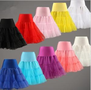 Damen Tide Petticoat Unterrock Rockabilly 50er 60er Jahre Dirndl Röcke Stock  C1