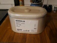 New Ikea BERÖMLIG tins x 2 brige lidded storage kitchen biscuits pasta