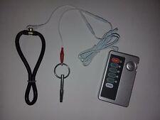 ELECTROSTIM TENS EMS SET WITH CONTROL UNIT ADJUSTABLE LARGE RING+HOLLOW URETHRAL
