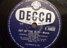 78 rpm CENTRAL BAND OF ROYAL AIR FORCE out of the blue / high flight ; a e simms