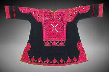 Antiguedad nómadas vestido Valle del Swat pakistán Antique Woman's embroidered dress 18/5