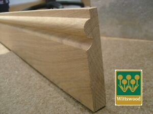 Solid Oak 150mm Torus Skirting, Sold Per Metre, ALL SIZES AVAILABLE