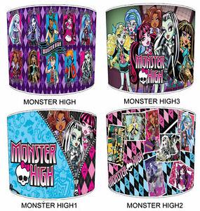 Lampshades Ideal To Match Monster High Duvets, Wallpaper & Wall Art