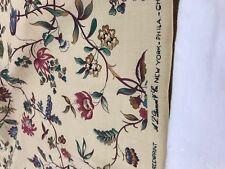 """A.L.DIAMENT & CO UK HANDPRINT FABRIC cotton """"les epines"""" floral  pierre frey Wow"""