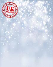LUCI di Natale Sparkle BLU BOKEH Fondale Vinile Foto di scena 5X7FT 150x220CM