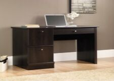 Sauder Select Computer Desk with Keyboard Tray in Cinnamon Cherry home furniture