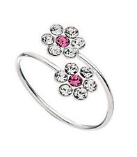 Sterling Silver Pink Double Flower Toe Ring